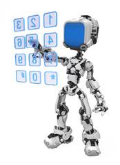 Blue Screen Robot, Dialing