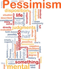 Pessimism word cloud