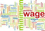 Minimum wage word cloud poster