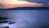 Sunset in Cannes, high density range image, long exposure poster