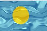 Flag of Palau wavy poster