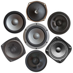 set of sound speakers