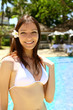 A beautiful woman at the pool