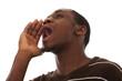 African men scream