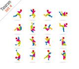Fototapety colorful tangram icon 4