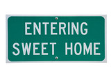Genuine road sign for Sweet Home town in rural America poster