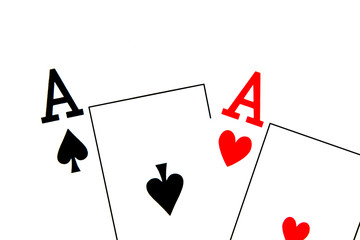 aces of spades and hearts