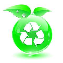 Recycle, green icon, ecology concept