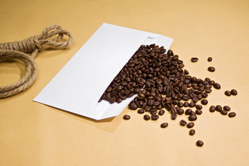 Coffee from envelope