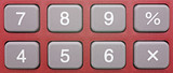 Pocket Calculator Red - Close-up