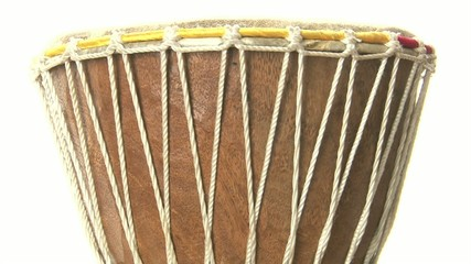 isolated djembe spinning