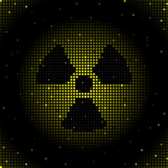 Radiation symbol background