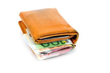 Gut gefüllte Geldbörse