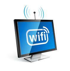 concept communication ordinateur wifi