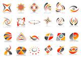 Fototapety Vector Abstract Logo Icon Design Set