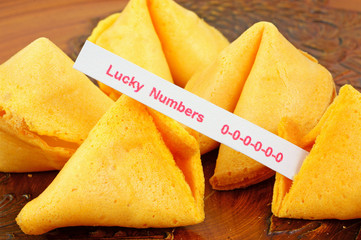 Fortune cookie with unlucky numbers