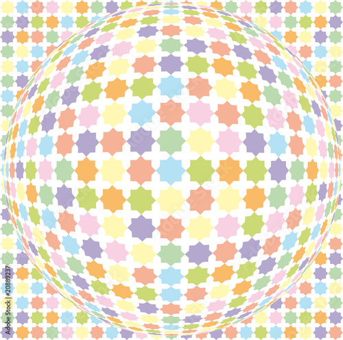 ball background abstract mosaic 3D- vector illustration