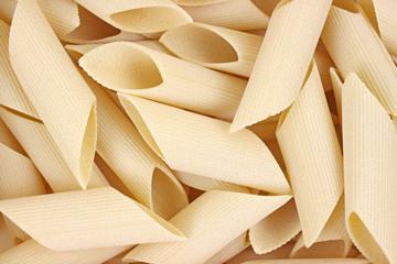 Close view of bombardoni rigati pasta.
