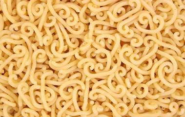 Close view of gramigna pasta