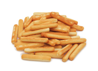 Bread sticks, isolated on white