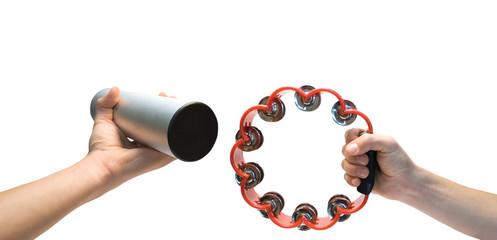 Shaker and tambourine