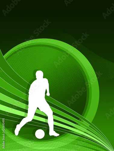 Footballer background