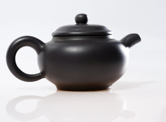 chinese teapot on white