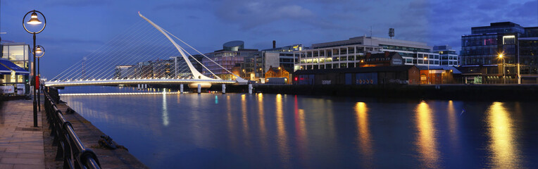 Dublin  bridge and Lifey river