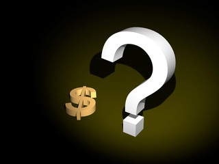dollar sign with question