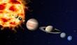 Fototapeten,sonnensystem,planet,planet,sonne