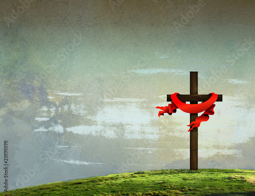 Easter Cross Background