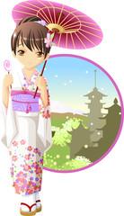 Summer kimono girl