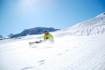 Snowboarder In Snow Powder