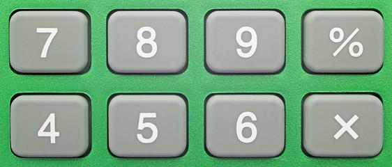 Pocket Calculator Green - Close-up