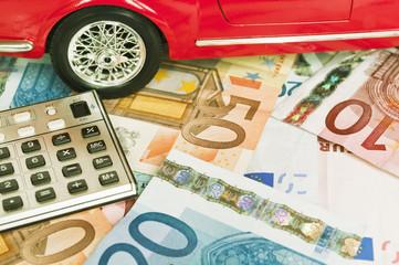 Car costs - concept