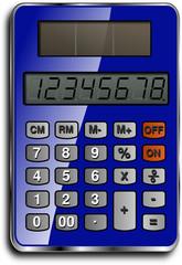 calculatrice solaire bleue
