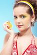 beautiful girl with lemon