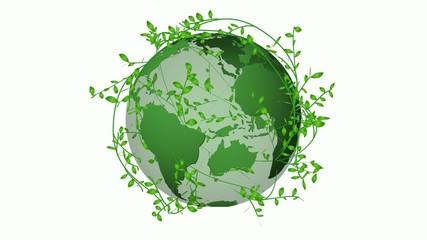 緑の地球イメージ2_エコ
