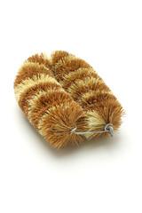 Natural coconut fiber brush
