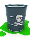 barrel with toxic liquid poster
