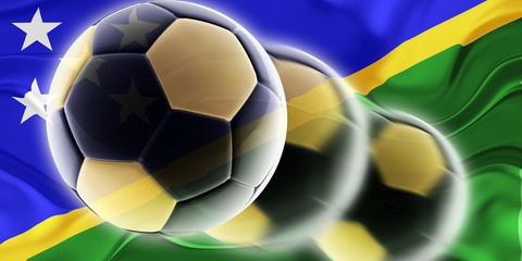 Flag of Solomon Islands wavy soccer