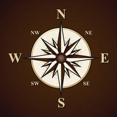Compass vector background