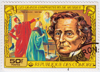 Stamp shows Hector Berlioz