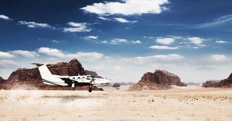Landung in der Wüste
