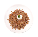 Boiled buckwheat kasha