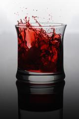 Red drin splash