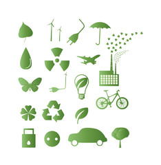 Great Set of ecology icons vector illustration