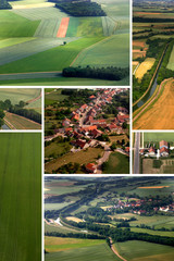 vue aerienne a la campagne