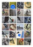 Vélos, cycles, deux-roues et transport vert poster