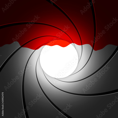 Gun barrel with blood - vector